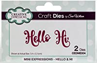 Creative Expressions Craft Dies By Sue Wilson-Mini Expressions-Hello & Hi