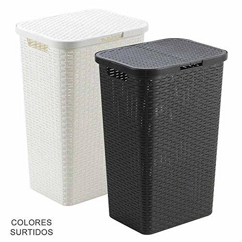 IPAE Pro Garden - Cesto Ropa Resina Con Tapa 80 litros Color Surtido