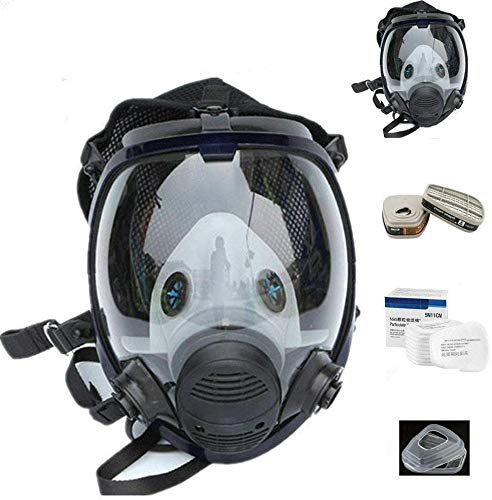 15in1 for 6800 Half Facepiece Respirator Wide Field of View, Widely Used in Paint Sprayer, Woodworking, Dust Protection
