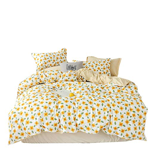 GYHH Bed Sheet Sets,Microfiber King Duvet Cover Set, 3 Pcs Ultra Soft Hypoallergenic Microfiber Quilt Cover Sets (Nectar,Single/1kg)