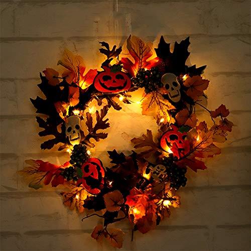 Vimoer Halloween Home Decoratieve slinger vleermuis esdoornblad krans seizoensgebonden binnen- en buitendecoratie