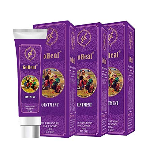 GoHeal Ointment For Diabetic Wounds, Burns, Non-Healing Wounds, Bedsores, Cuts And Bruises 10gms (3 Pack)