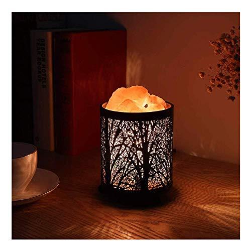 Lijing Natuurlijke Himalaya zoutlamp luchtreinigend kristallen zout velzen-lamp-nachtlampje met metalen mand feestdagen verjaardag moederdaggeschenk