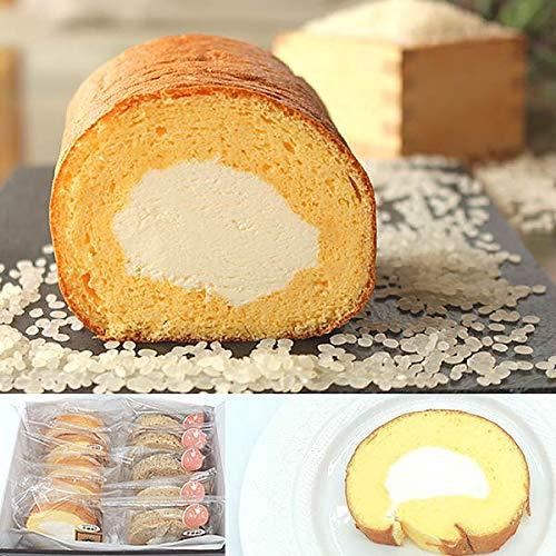 米粉スイーツ ロールケーキ ピース10個入 化粧箱入 木島平米 グルテンフリー ギフト (プレーン・抹茶各5個)