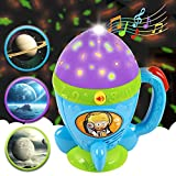 kidpal Toddler Flashlight Toy for Age 1 2 3 Years Old Girl Boy Kid, Baby Toy for 18 24 Months, Night Light Star Projector Flashlight with Soft Light and Music, Little Space Explorer Accompany to Sleep