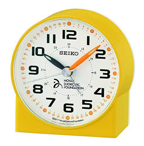 Seiko Wecker gelb Kunststoff Schleichende Sekunde QHE907Y