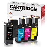 Mony - Cartuccia toner compatibile per stampanti laser Xerox Phaser 6020 6022 WorkCentre 6027 6025, 106R02759 106R02756 106R02757 106R02758 (1 nero, 1 ciano, 1 magenta, 1 giallo)