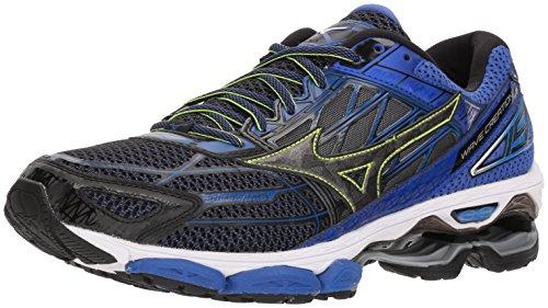 Mizuno Men's Wave Creation 19 Running Shoes, Black, 11 D US