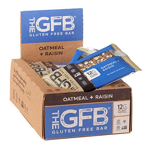 The GFB Gluten Free, Non GMO High Protein Bars, Oatmeal Raisin, 2.05 Ounce (Pack of 12) Packaging May Vary