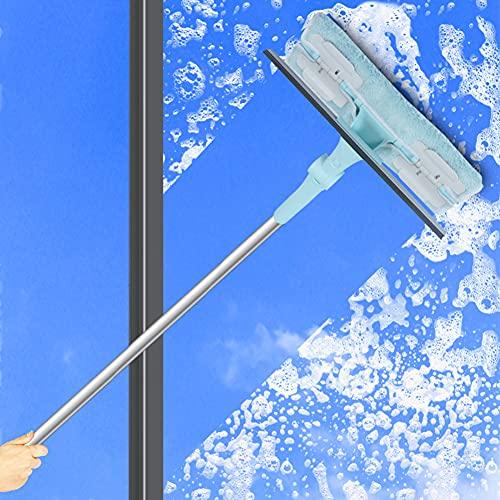Limpiacristales Ducha para Baño, Limpiador de Ventanas, Escobilla de Goma Limpiacristales, para Baño, Cocina, Espejo, Ventana (30 * 235cm)