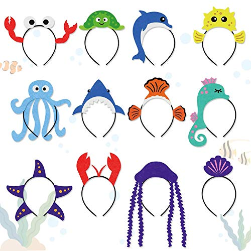 CiyvoLyeen Sea Animal Party Headband Under The Sea Themed Birthday Party Favors for Kids Costumes Dress-up Party