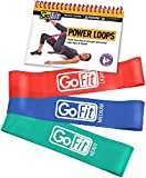GoFit Power Loops Workout Resistance Bands with Training Manual – Fitness Bands for Lower Body Exercise