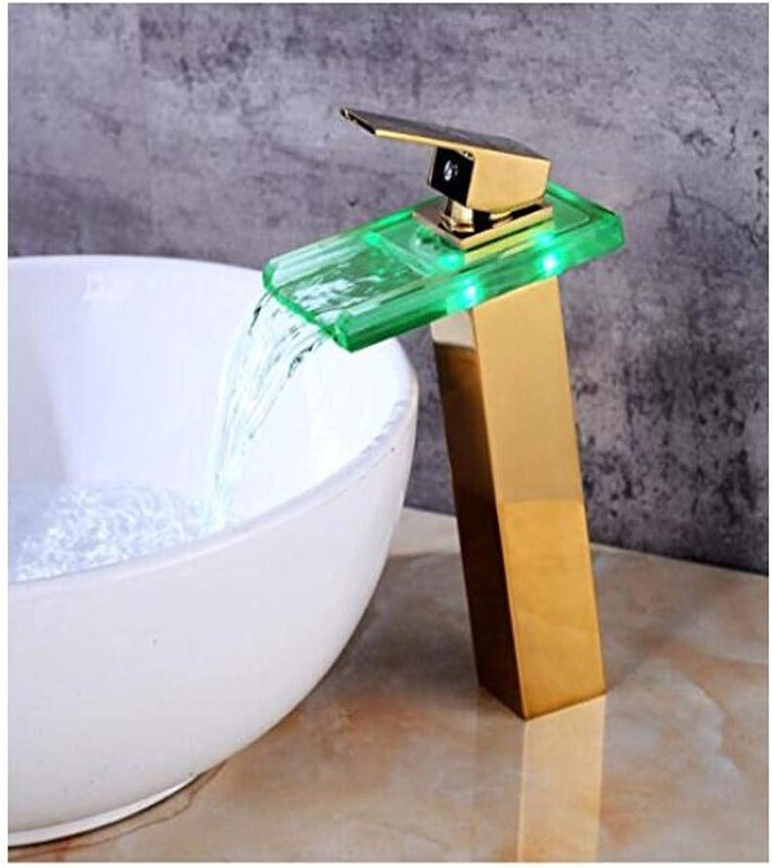 Faucet Bathroom Kitchen Luxury Modern Faucet Sink Tap Temperature Controlled Faucet Led Crane Modern Water Tap Bathroom Waterfall Faucet Bathroom Faucets
