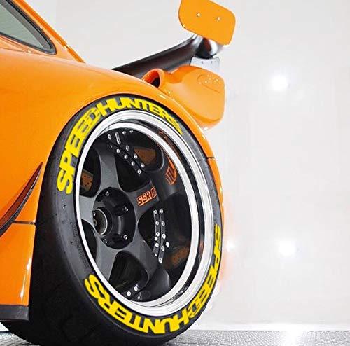 PS SPEEDHUNTERS GELB Yellow Reifenbeschriftung Reifen Aufkleber 8X Sticker Set Gummi Aufkleber Tire Sticker 14