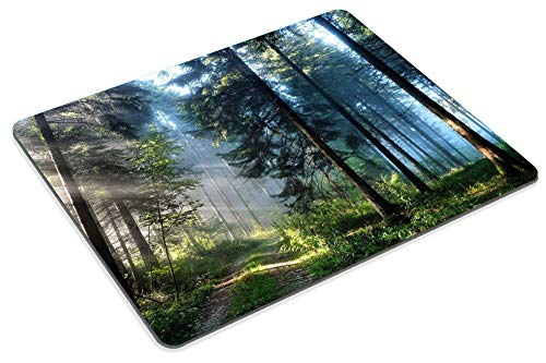 Smooffly Gaming Mouse Pad Custom,Nature Misty Forest Customized Rectangle Non-Slip Rubber Mousepad 9.5 X 7.9 Inch (240mmX200mmX3mm) Photo #5
