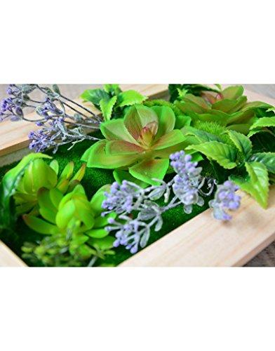 Jardín Vertical Decorativo con Plantas Artificiales Hogar y más - C