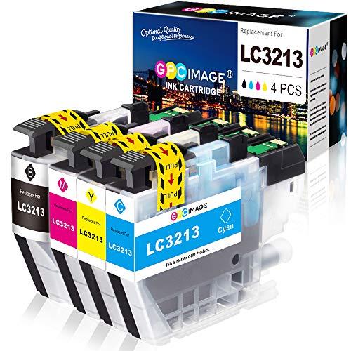 GPC Image LC3213 Cartuccia d'inchiostro compatibile per Brother LC-3213 LC3211 LC-3213 per Brother MFC-J491DW MFC-J497DW MFC-J890DW DCP-J572DW Stampante(4 pezzi, Nero, Ciano, Magenta, Giallo)