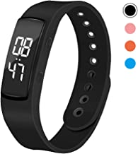 iGANK T6 Pedometer Watch Simple Fitness Tracker Walking Pedometers Step Counter Calorie Counter for Kids Women Men,No App Required