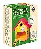 Pebaro 466 Holzbauset Vogelhaus mit 9 unbehandelten Birkenholzplatten, Hammer und Nägeln, perfekte Geschenkidee für Hobby-Handwerker