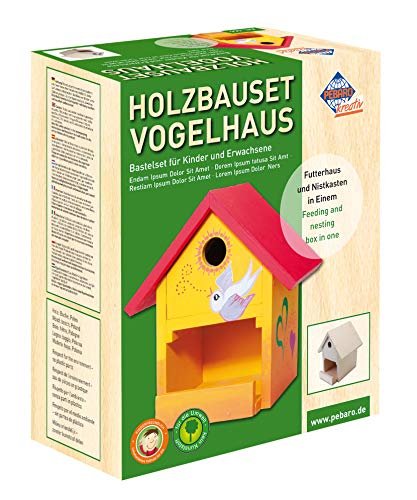 Pebaro 466 Holzbauset Vogelhaus mit 9...
