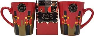 Hot Cocoa Gift Set with 2 FAO Schwarz Christmas Nutcracker Mugs