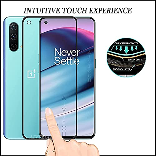 Aivtech Tempered Glass Screen Protector Compatible For OnePlus Nord Ce 5G With Edge to Edge Coverage and Easy Installation Kit