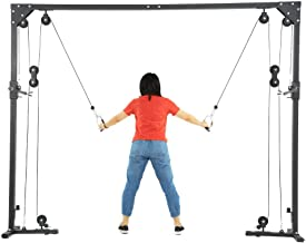 GiODLCE Cable Crossover Machine Fitness Functional Trainer with Heavy Duty Rotating Pulleys Multi-Grip Pull-Up Workout Station