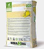 Keraklima Eco Granello Kerakoll Adesivo e rasante bianco minerale eco-compatibile per posa dei pannelli 25 Kg