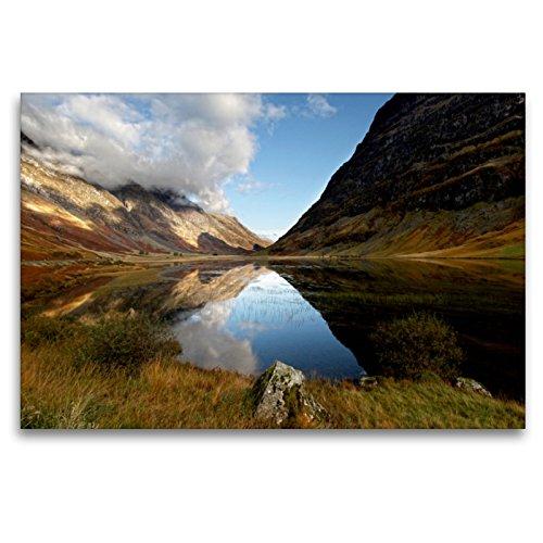 Premium Textil-Leinwand 120 x 80 cm Quer-Format Loch Achtriochtan, Glencoe, Schottland | Wandbild, HD-Bild auf Keilrahmen, Fertigbild auf hochwertigem Vlies, Leinwanddruck von Martina Cross