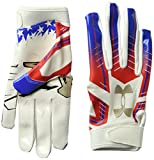 Under Armour F6 LE Jungen American Football Handschuhe White/Ultra Blue - Large