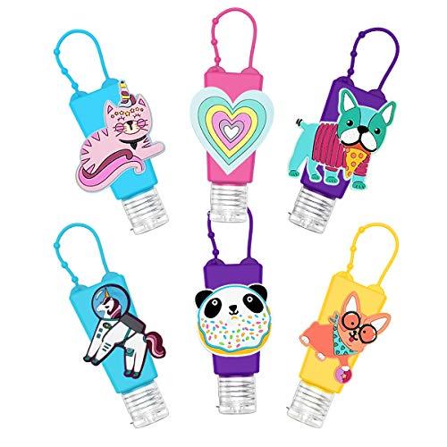 GLCS GLAUCUS 6Pcs 30ML Botellas de Viaje Portátiles para niños Contenedores Desinfectante de Manos Prueba de Fugas Silicona Reutilizable Botellas Vacíos para Champús Lociones Líquido