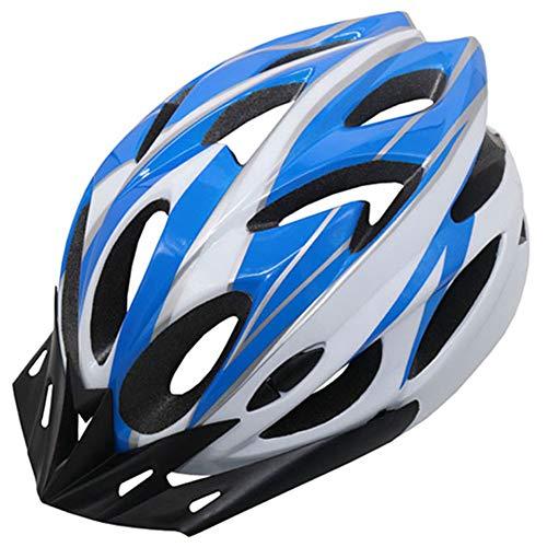 Unisex Blau-Weiß Fahrradhelm Mountain & Road Fahrradhelme Kletterhelm Adult Outdoor...
