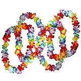 DealMux 50 collares de flores hawaianas tropicales de - Big Many Necklaces - Traje de flores hawaianas Accesorios perfectos para cumpleaños temáticos, disfraces y bodas.