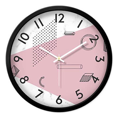 FPRW prachtige persoonlijkheid dubbele bel wekker, mute minimalistische nachtkastje, lichtgevende ringtone wekken snooze tafel klok, stijl 3 zwart frame