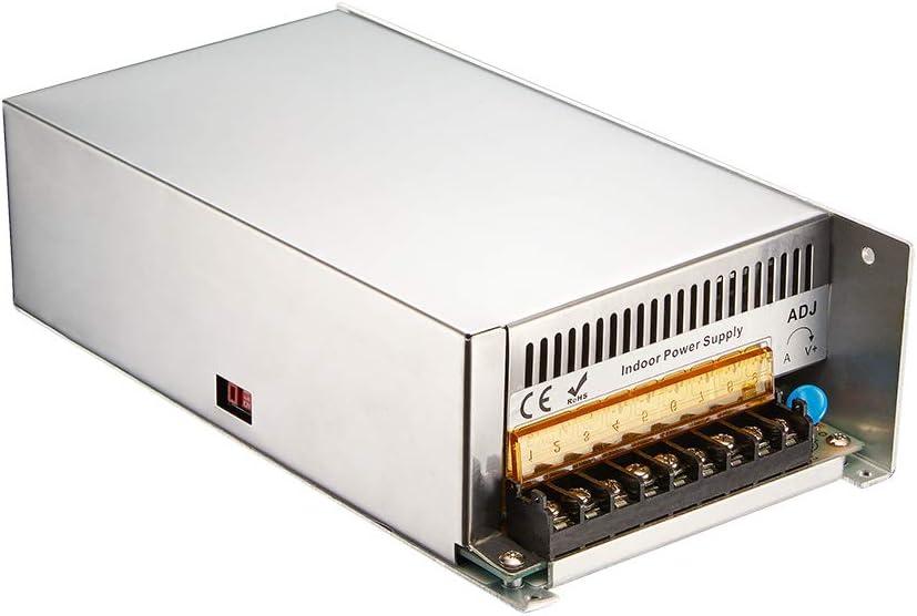 48V 16.67A 800W LED Switch Power Supply Driver AC 115-230V to DC 48V Transformer for LED Strip CCTV Security System,Camera,3D Printer,Computer Project,Motor