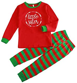 Conjunto Pijamas Familia Navidad - Otoño Invierno Navidad Letras Impreso Ropa Familia Pijama Traje,Rojo/Verde