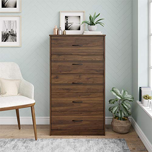 Mainstays Classic 5 Drawer Dresser (Walnut)