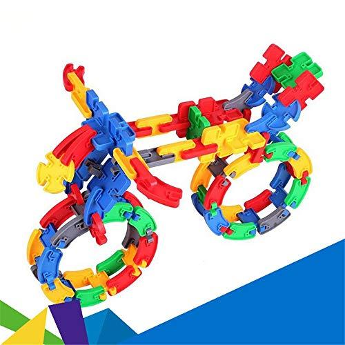 Liuxiaomiao-Toy Blocs Jouets Enfants 3-12 Ans en Plastique 80 pièces orthographiant l'assemblage de variétés de Blocs de Construction Puzzle démontage Enfants Jouets pour la Famille de la Maternelle
