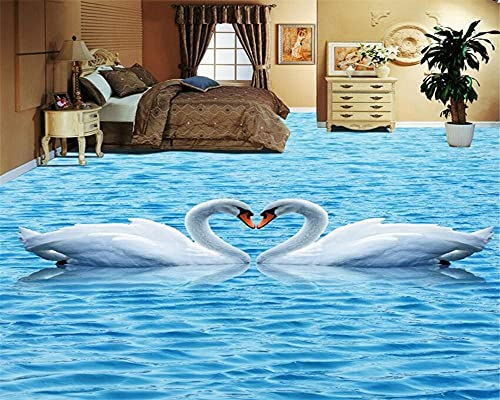 Papel tapiz de suelo autoadhesivo 3D piso grúa grúa sala de estar dormitorio 3D baldosas pintura papel de parede 3d-350 × 245cm