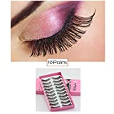 NIHAI 10 Pairs False Eyelashes,Women's Handmade Professional 3D Natural Faux Mink Reusable Thick Long Eyes Lashes Set for Makeup,Each Style Soft and Cozy (A)