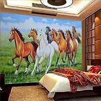 Ljjlm プレーリー8ジュンフィギュア8Junxiongfeng室内装飾絵画カスタム大フレスコ画壁紙-420X280Cm