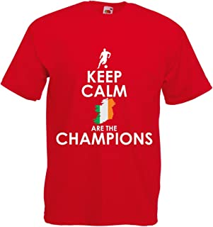 lepni.me T Shirts for Men Keep Calm, Irish are The Champions