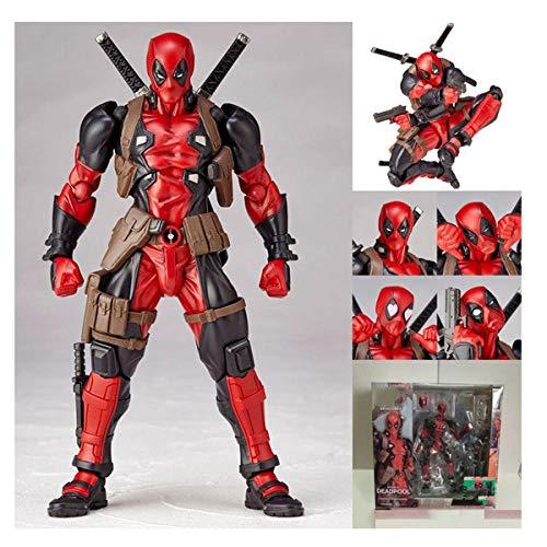 Actionfigur PVC Hand Spielzeug Anime Bewegliches Modell PVC Modell Yamaguchi Puppendekoration Sammlerstück 17cm Hoch-Deadpool Red