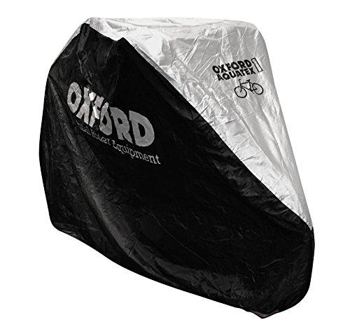 Oxford Aquatex double housse de protection pour vélos- Noir (Noir/argent)-200x 80x 110 cm