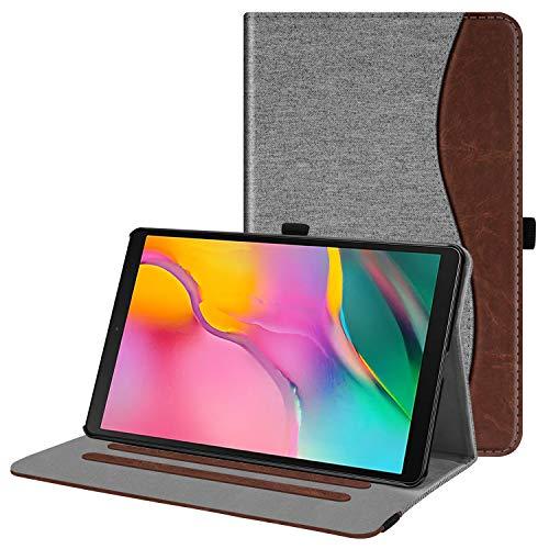 Fintie Hülle für Samsung Galaxy Tab A 10,1 2019 - Multi-Winkel Betrachtung Stoff Schutzhülle mit Dokumentschlitze für Samsung Tab A 10.1 Zoll SM-T510/T515 2019 Tablet, Denim grau