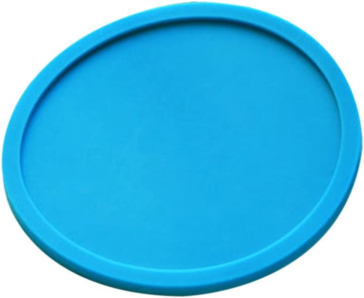 Qingsun Kreativ Silikon Untersetzer Glasuntersetzer Einfarbig für Bar Küche (8 Stück) Blau