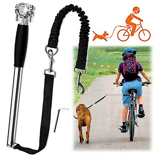 Videosystem Dog Hands Free Leashes,Dog Bike Leash,Dog Bicycle Exerciser Leash for Exercising Training Jogging Cycling,Easy Installation,Removal Hand Free, and Outdoor Safe with Pets