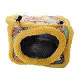 mothcattl - Juego de 4 Estaciones de algodón Cuadrado, diseño de Ardilla de Encaje, algodón, Nido de Flores, Nido de Oro, Nido de Miel, cacatúa holandés, Cerdo, Chinchilla, Conejo, Esponja, Hamaca
