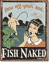 SUDISSKM Rod Fish Nakedメタルサインを自慢して見せてください