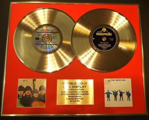 The Beatles/Doppel-CD Gold Disc, Display/LTD. Edition/COA Help! & Beatles for Sale